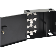 Fiber Optic Wall Mount Enclosure with 4 Panels