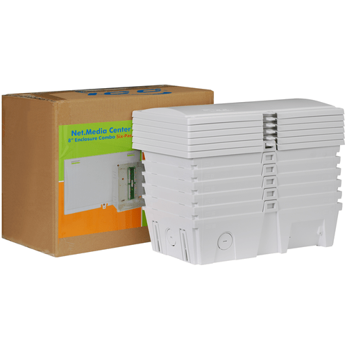 """8"""" Wiring Enclosure Combo 6 Pack with Voice and Video"""