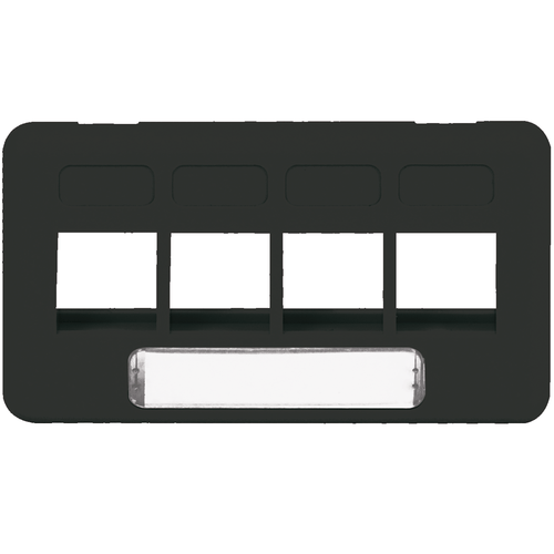Modular Furniture Faceplate with 4 Ports for HD Style in TIA Size