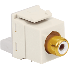 RCA to IDC Keystone Jack with Gold Plated Connector and White Insert for HD Style