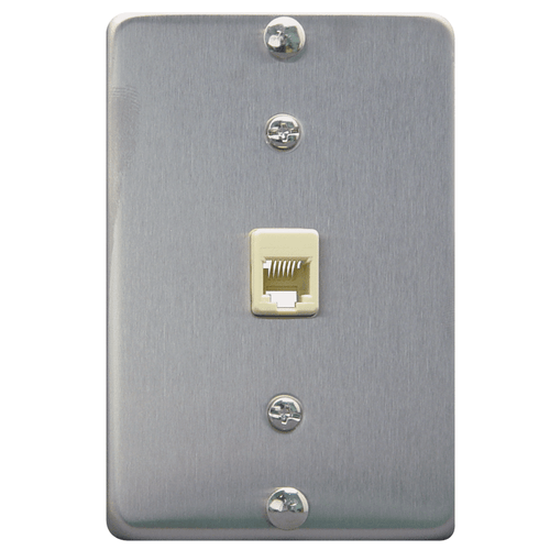 Telephone Wall Plate Stainless Steel in 6P6C