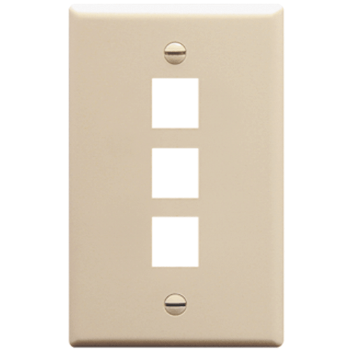Classic Oversized Faceplate with 3 Ports in Single Gang