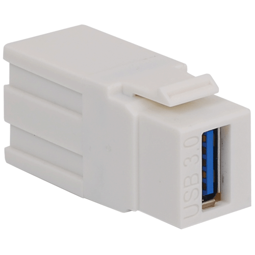 USB 3.0 Modular Connector in White for HD Style