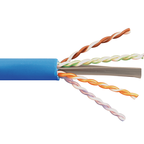 650MHz CAT6A Bulk Cable with 23 AWG UTP Solid Wires, CMP Jacket in a Pull Box, 1000 Feet