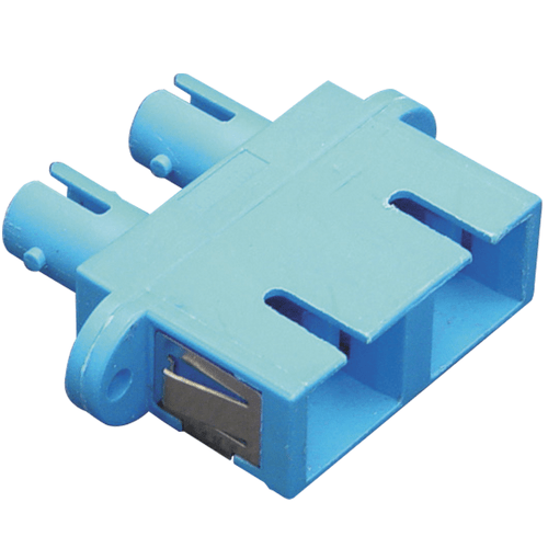 SC-ST Duplex Fiber Optic Adapter with Metal Sleeve