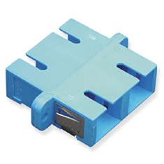 SC Duplex Fiber Optic Adapter with Metal Sleeve