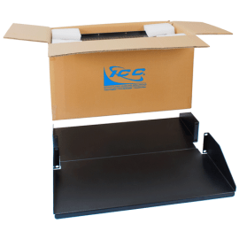 """20"""" Deep Double Sided Rack Shelf Solid with 2 RMS in 2 Pack"""