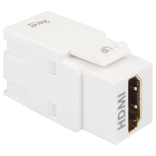 HDMI 90 Degree Modular Coupler in White for HD Style