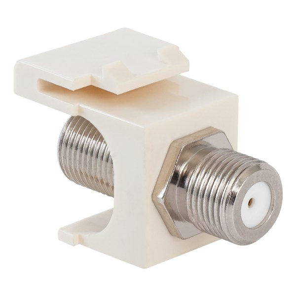 2 GHz F-Type Modular Jack with Nickel Plated Connector in HD Style