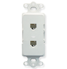 Decorex Insert with 2 Voice in 6P6C Terminals in White