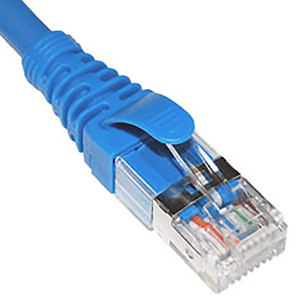 CAT6A U/FTP Patch Cord in Blue