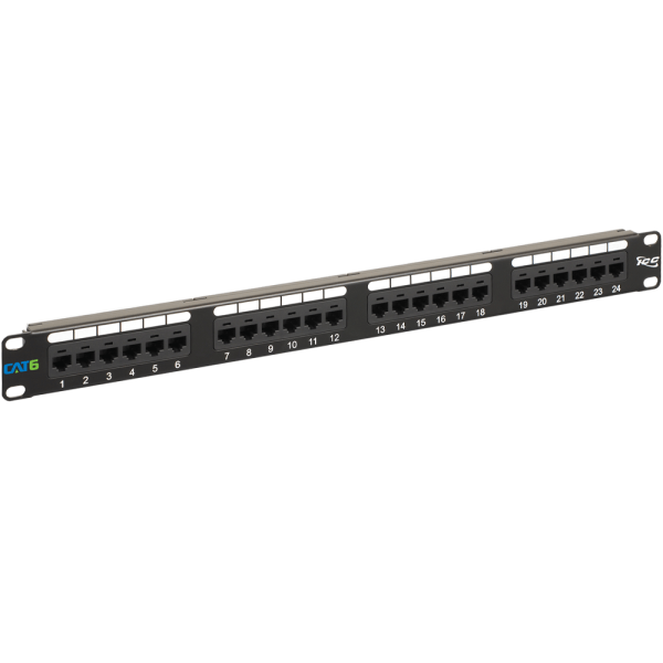 CAT6 Patch Panel with 24 Ports and 1 RMS