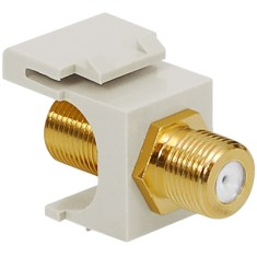 F-Type Keystone Jack for 2 GHz with Gold Plated Connector for HD Style