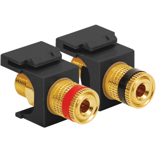 Audio Speaker Connectors with Red and Black Gold Plated Binding Posts and Female Banana Plugs for HD Style