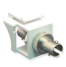 ST Fiber Optic Keystone Coupler with Simplex Port