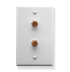 Wall Plate with 1 Gang and 2 F-Type