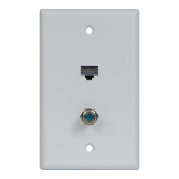 Faceplate IDC RJ-45 CAT5e Data F-type ICRDS0F5WH