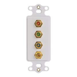 Decorex Insert 3 RCA 1 F-Type Connector ICRDS3RDWH