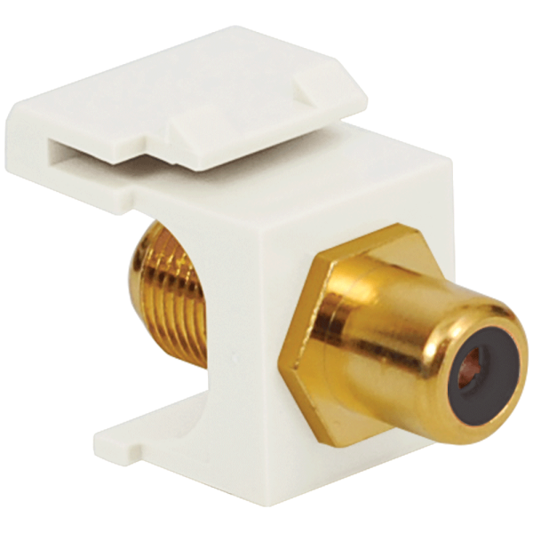 RCA to F-Type Modular Jack with Black Insert and Gold Plated Connector in HD Style