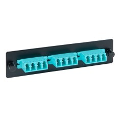 LGX Adapter Panel 3 Quad LC 12 Fiber Aqua ICFOPL16BG