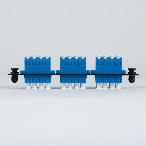 LGX Adapter Panel 6 Quad LC Blue Top ICFOPL1619