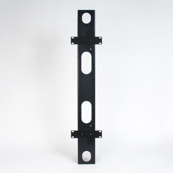 Vertical Plastic Finger Duct 7 Foot Rack 2 Sets Back 3 ICCMSC30BK