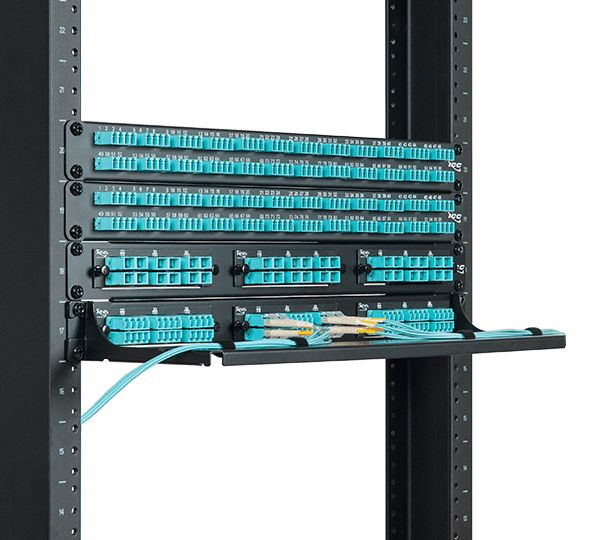 Various Fiber Optic Patch Panels and Connectivity