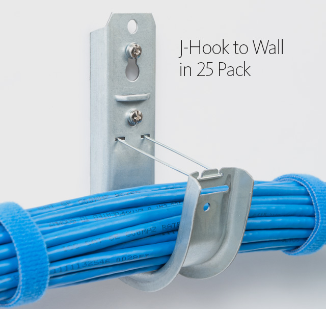 J-Hook to Wall in 25 Pack