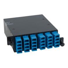 LC-MPO Fiber Optic HD Cassette Blue Multimode Adapters 24 OS1 Fiber ICFC24SLH9
