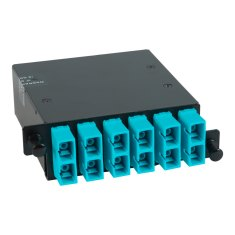 SC MPO Fiber Optic HD Cassette Aqua Multimode Adapters 12 10G OM3 Fibers ICFC12MCHG