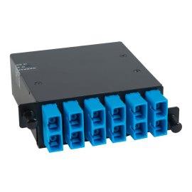 SC MPO Fiber Optic HD Cassette Blue Multimode Adapters 12 OS1 Fibers ICFC12SCH9