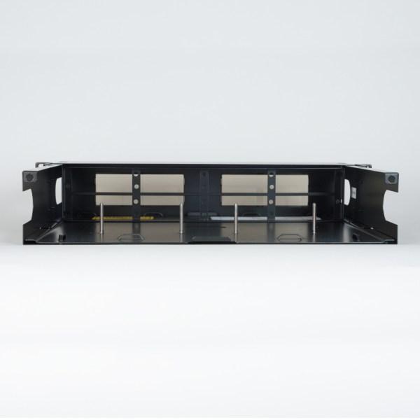 HD Fiber Optic Rack Mount Enclosure 8 Panels 2 RMS Back No Cover ICFORE82RM