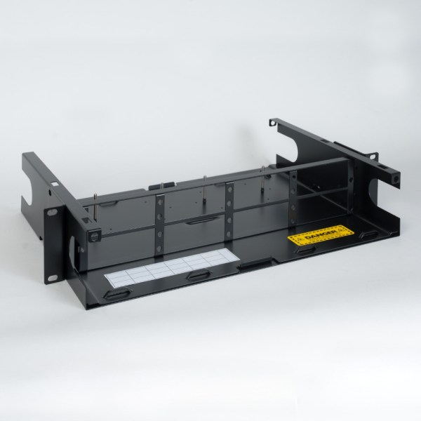 HD Fiber Optic Rack Mount Enclosure 8 Panels 2 RMS No Cover ICFORE82RM