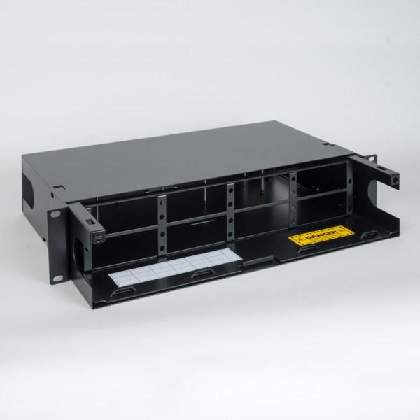 HD Fiber Optic Rack Mount Enclosure 8 Panels 2 RMS No Cover2 ICFORE82RM