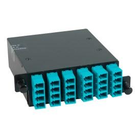 icfc24mlhg-lc-mpo-fiber-optic-hd-cassette-aqua-multimode-adapters-24-10g-om3-fibers-1000