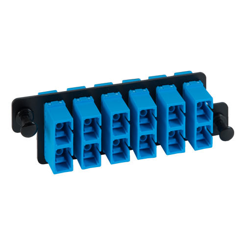 ICFOPC16H9 SC SC Fiber Optic HD Adapter Panel Blue Multimode Adapters 12 10G Fibers