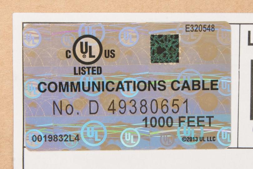 ICC carton with UL mark