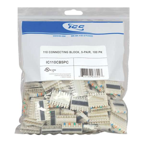 110 Connecting Block in 100 pack and 5 pair - IC110CB5PC