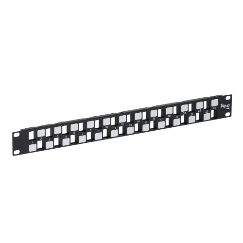 Blank Patch Panel with 24 Ports EZ Style in 1 RMS IC107BE241