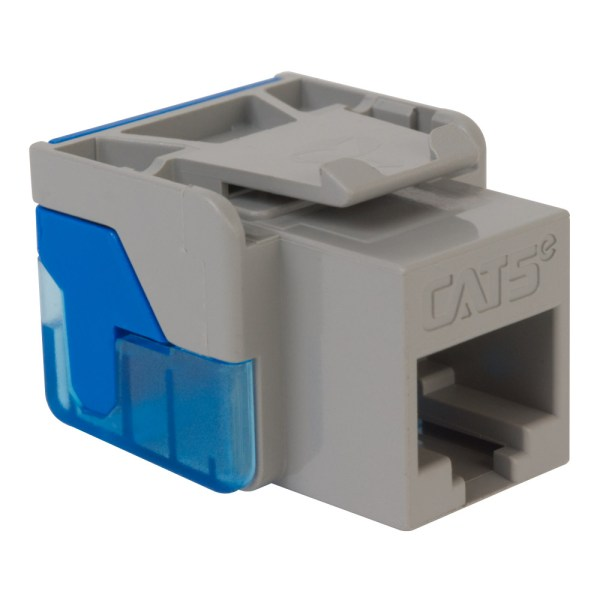 CAT5e RJ45 Gray Keystone Jack EZ IC1078E5GY