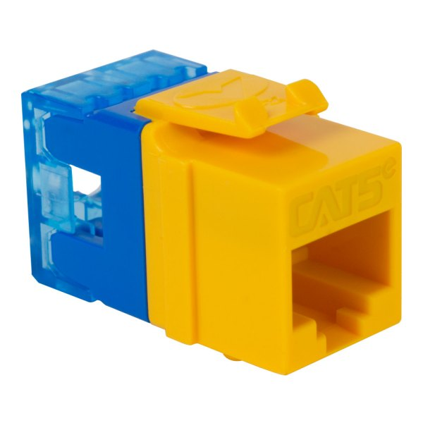 CAT5e RJ45 Yellow Keystone Jack HD IC1078F5YL