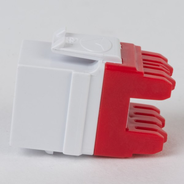 CAT6 RJ45 White Keystone Jack HD Side IC1078F6WH