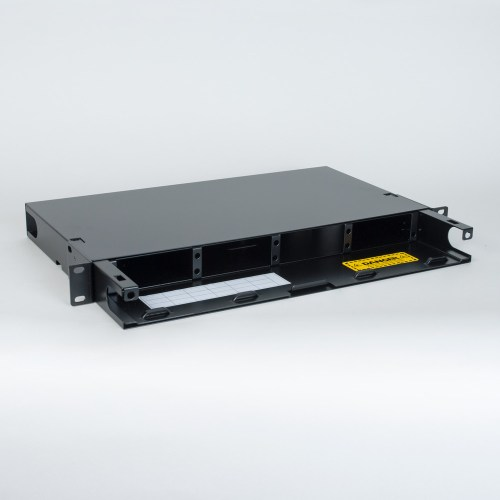 Fiber Optic Rack Mount Enclosure 4 Panel 1 RMS No Angle Cover