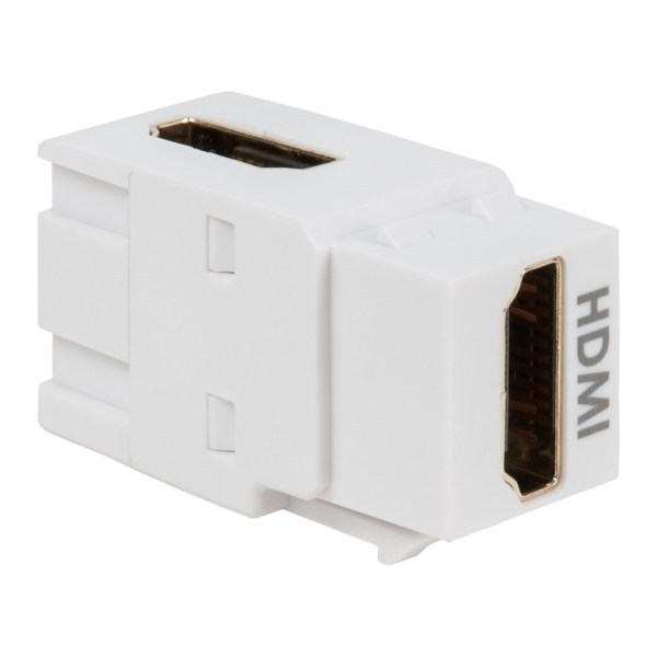 90 Degree HDMI Modular Coupler in HD Style