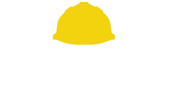 Contractor in a face mask