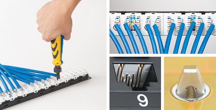 CAT6A 110-Type IDC Patch Panel Features
