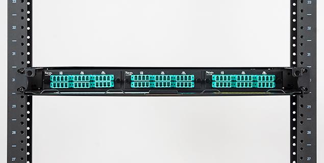 Fiber optic rack mount enclosure with Classic LGX compatible footprint