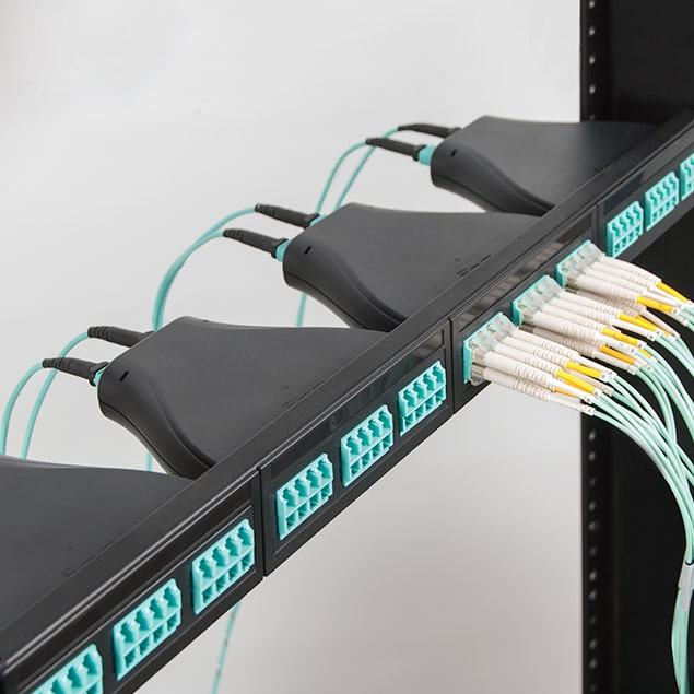 Plug and Play 1 RMS Fiber Optic Blank Patch Panel with 4 Cassette Slots