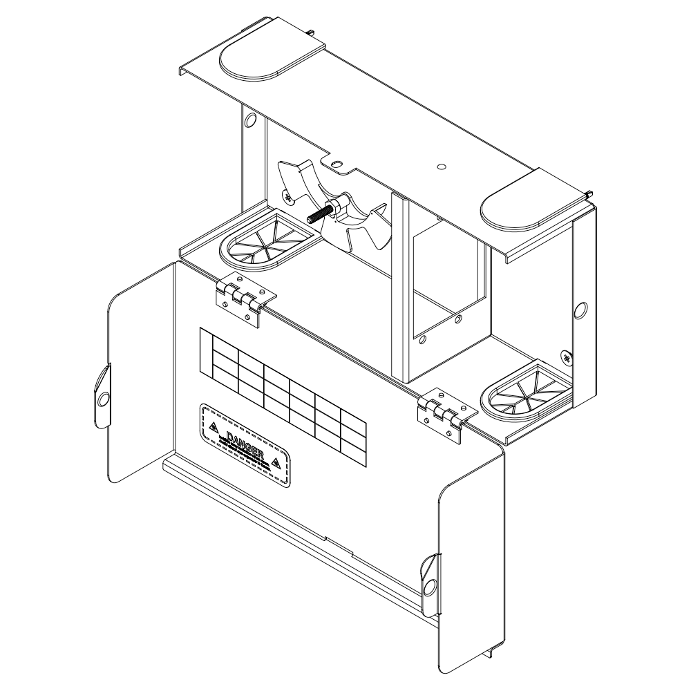HD Fiber Optic Wall Mount Enclosure with 2 Slots for Adapter Panels or Cassettes