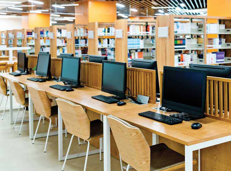 School library with computers